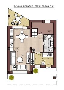 Секция правая 1  этаж, вариант 2-page-001
