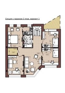 Секция с гаражом 2 этаж, вариант 1-page-001